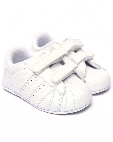 Adidas Boys Superstar Crib Bootie (Newborn) White 1 Infant