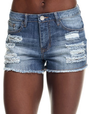 Basic Essentials - Mid-Rise Destructed Short