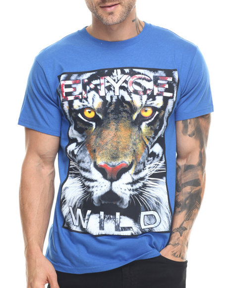 Ur-ID 217855 Enyce - Men Blue Tiger Wild T-Shirt
