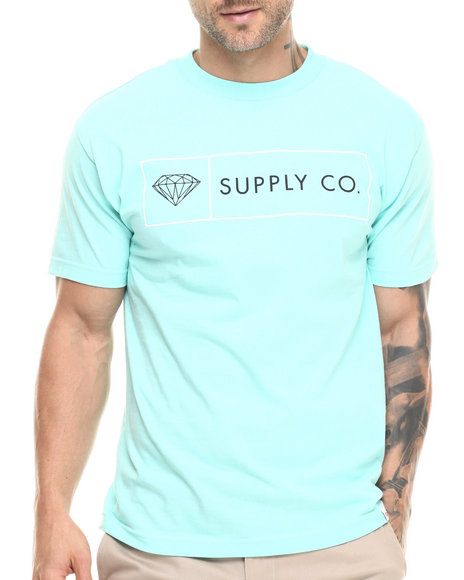 Diamond Supply Co - Men Teal Boxed In Tee