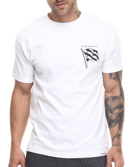 Diamond Supply Co - Men White Le Diamant Tee