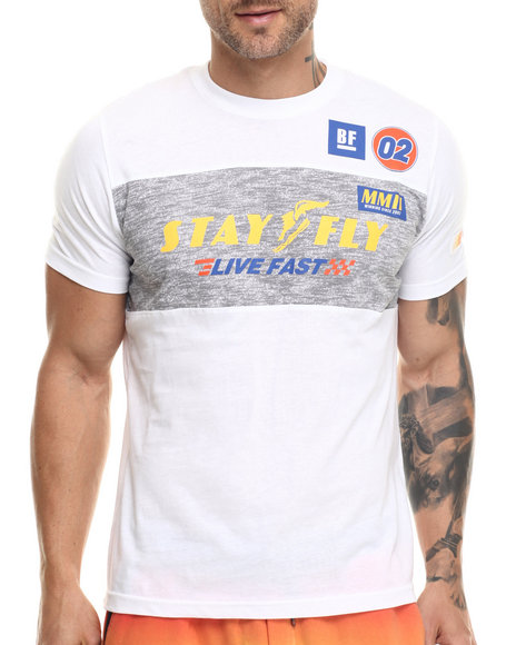 Ur-ID 217829 Born Fly - Men White Edwards Tee