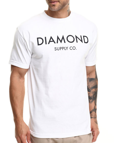 Diamond Supply Co - Men White Diamond Classic Tee
