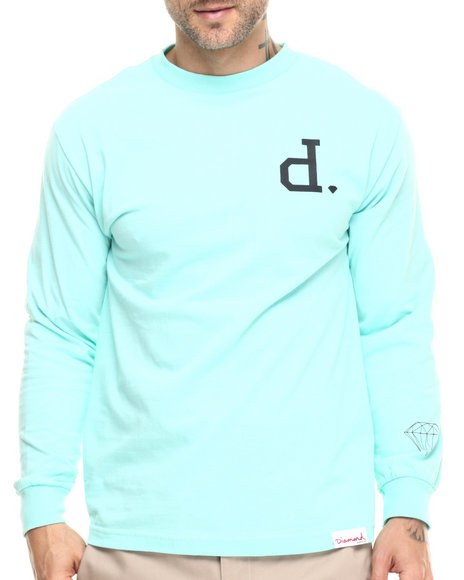 Diamond Supply Co - Men Teal Un-Polo L/S Tee