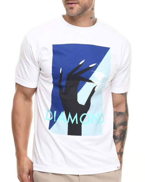 Diamond Supply Co - Men White Pinch Tee