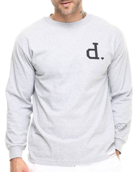 Diamond Supply Co - Men Light Grey Un-Polo L/S Tee