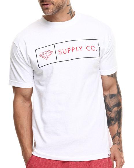 Diamond Supply Co - Men White Boxed In Tee
