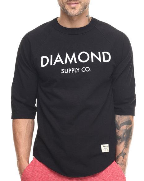 Ur-ID 217819 Diamond Supply Co - Men Black Diamond Classic Raglan Tee