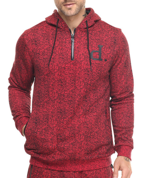 Ur-ID 217826 Diamond Supply Co - Men Red Un Polo Tech Hoodie