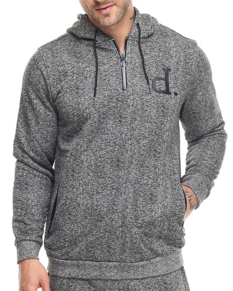 Ur-ID 217836 Diamond Supply Co - Men Grey Un Polo Tech Hoodie