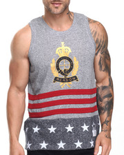 Shirts - USA Crest Stripe Tank