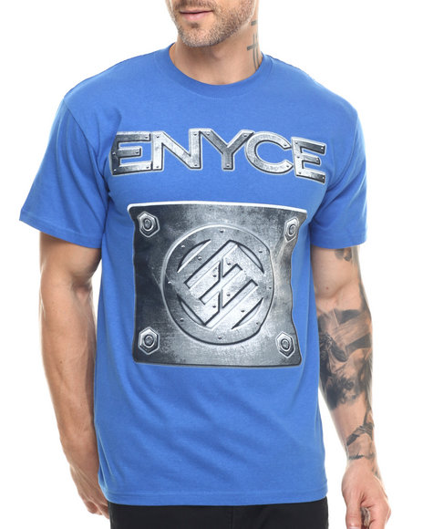 Enyce - Men Blue Metal Logo T-Shirt