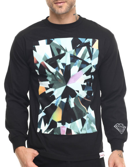 Diamond Supply Co - Men Black Simplicity Box L/S Tee