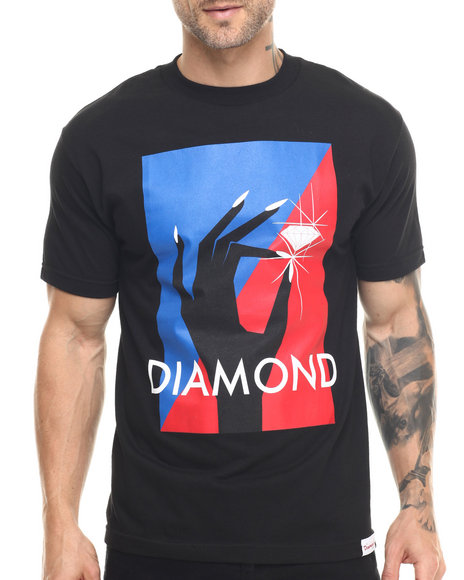 Diamond Supply Co - Men Black Pinch Tee