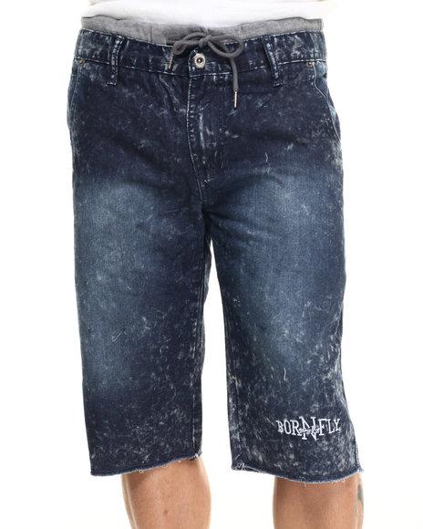 Ur-ID 217812 Born Fly - Men Medium Wash Mcmurray Shorts