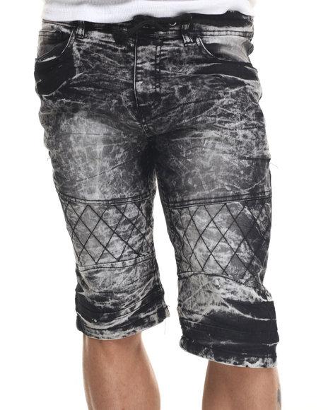 Ur-ID 217825 Basic Essentials - Men Black Acid Washed Denim Shorts