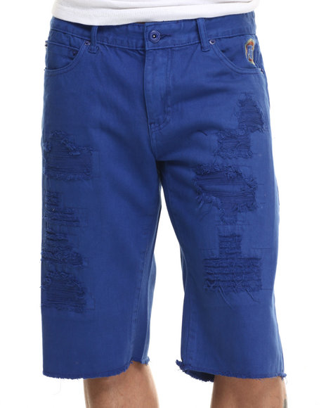 Born Fly - Men Blue Biffle Denim Shorts