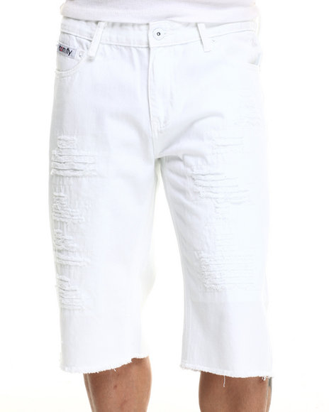 Born Fly - Men White Driver Shorts - $31.99