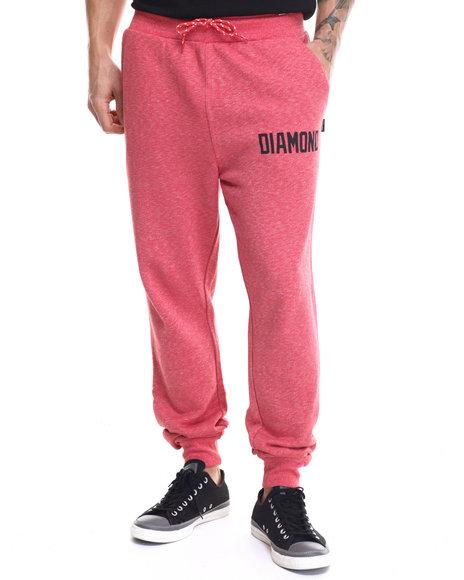 Ur-ID 217866 Diamond Supply Co - Men Red Ajaye Slim Sweatpants