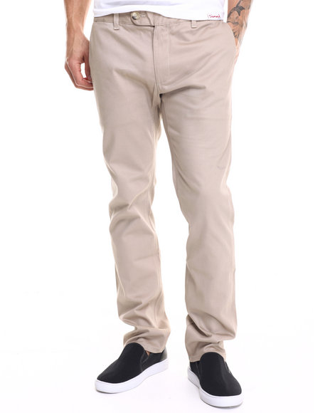 Diamond Supply Co - Men Khaki Diamond Mined Chino Slim Fit Pants