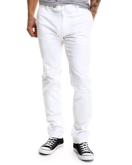 Diamond Supply Co - Men White Diamond Mined Chino Slim Fit Pants