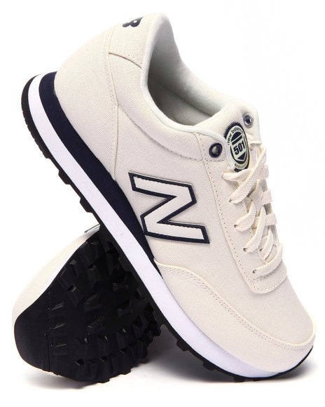 New Balance - Women White 501 Rugby Sneakers