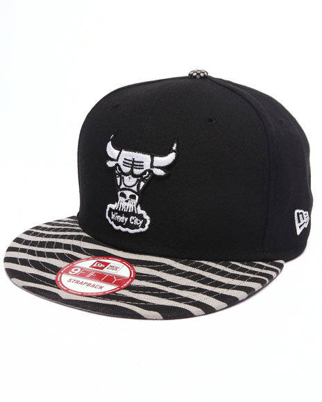 Ur-ID 223151 New Era - Men Black Chicago Bulls Retro 950 Strapback Hat