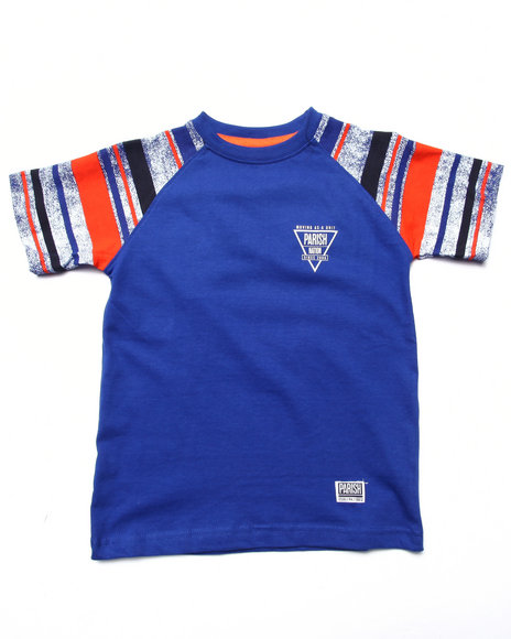Parish - Boys Blue Raglan Tee (4-7) - $10.99
