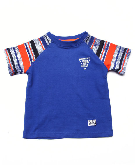 Parish - Boys Blue Raglan Tee (2T-4T) - $8.99