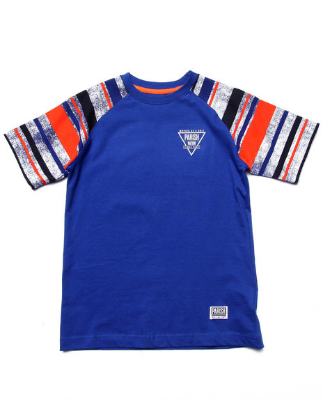 Parish - Boys Blue Raglan Tee (8-20) - $16.99