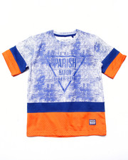 Boys - CUT & SEW MESH TEE (8-20)