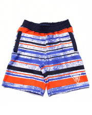 Shorts - STRIPED FRENCH TERRY SHORTS (4-7)