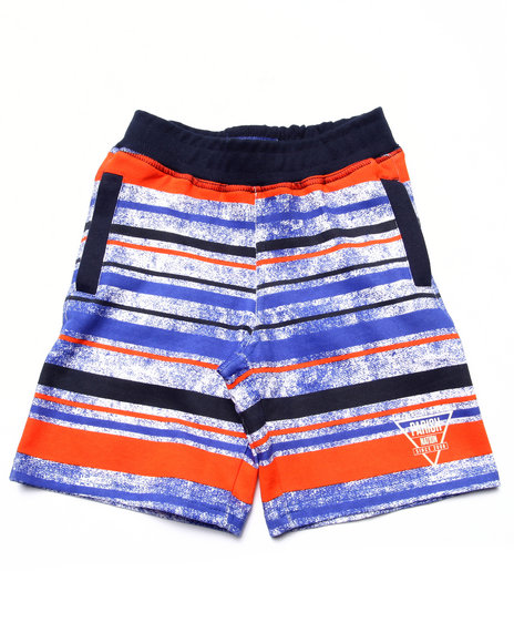 Parish - Boys Blue Striped French Terry Shorts (4-7) - $15.99