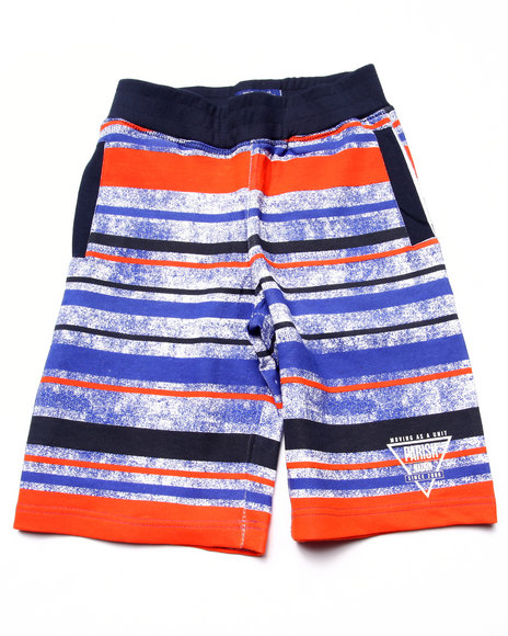 Parish - Boys Blue Striped French Terry Shorts (8-20)