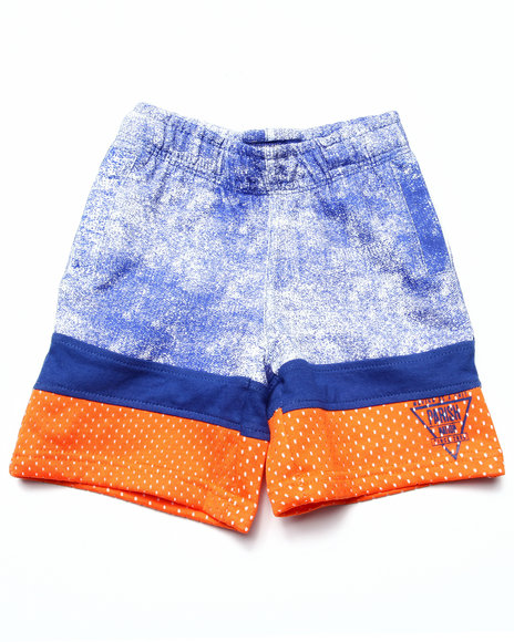 Parish - Boys Blue Cut & Sew French Terrt Shorts (2T-4T) - $13.99