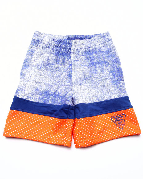 Parish - Boys Blue Cut & Sew French Terry Shorts (4-7) - $10.99