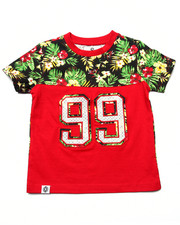 Tops - TROPICAL YOKE PRINT TEE (2T-4T)
