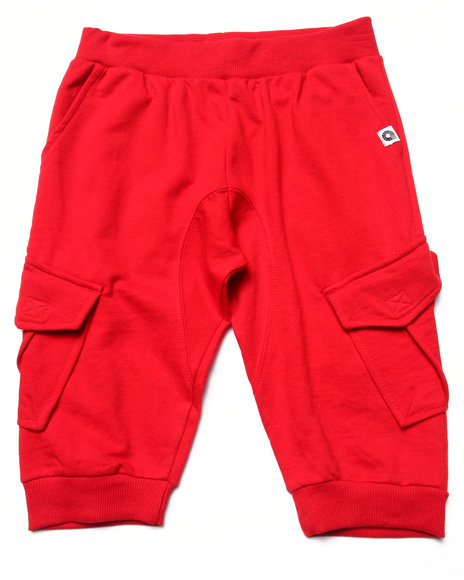 Akademiks - Boys Red Cargo Jogger Shorts (8-20)