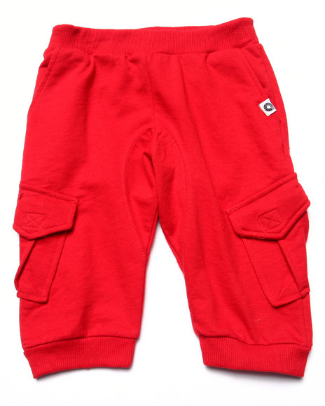 Akademiks - Boys Red Cargo Jogger Shorts (4-7)