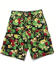 Shorts - TROPICAL CARGO SHORTS (4-7)