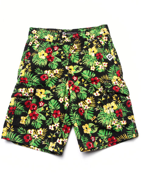 Akademiks - Boys Multi Tropical Cargo Shorts (4-7) - $18.99