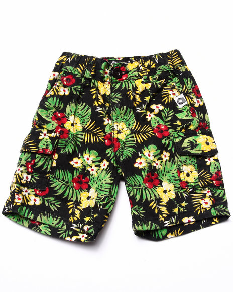 Akademiks - Boys Multi Tropical Cargo Shorts (2T-4T) - $44.00