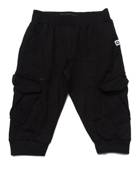 Akademiks - Boys Black Cargo Jogger Shorts (8-20)