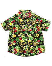 Button-downs - S/S TROPICAL PRINT WOVEN (2T-4T)