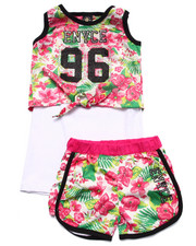 Sizes 7-16 - Big Kids - 2 PC TROPICAL SHORTS SET (7-16)
