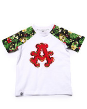Tops - TROPICAL RAGLAN TEE (2T-4T)