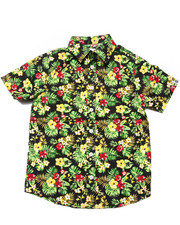 Button-downs - S/S TROPICAL PRINT WOVEN (8-20)