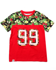 Boys - TROPICAL YOKE PRINT TEE (8-20)