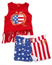 Sets - 2 PC AMERICANA TANK & SHORTS (4-6X)