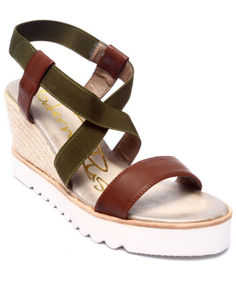 Fashion Lab - Women Brown Evelyn Wedge